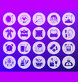 insomnia shape carved flat icons set vector image
