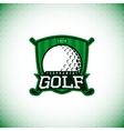 label of golf championship vector image