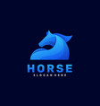 logo horse gradient colorful style vector image