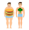 man on a diet vector image vector image