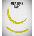 Measure tape and dieting vector image vector image