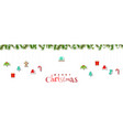 merry christmas holiday design decoration with vector image