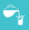 milk pouring from a jug in glass vector image vector image