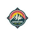 Mountain adventure badge design wilderness