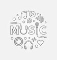 music modern round in outline vector image vector image