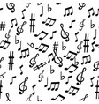 music note pattern sameless vector image vector image
