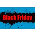 paint grunge background for Black Friday vector image vector image