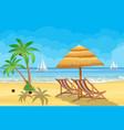 paradise beach sea with yachts vector image