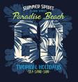 paradise beach tropical summer holiday vector image vector image