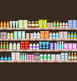 pharmacy shelves with medicine vector image vector image