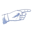 pointing hand vector image vector image