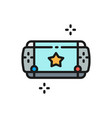 portable game device flat color line icon vector image