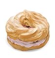 Realistic sweet cute colorful donut with vector image vector image