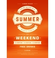 retro summer holidays beach party poster or flyer vector image vector image