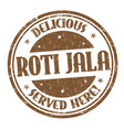 roti jala sign or stamp vector image vector image