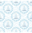 Seamless background sailboats and waves vector image