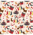 Seamless Christmas traditional pattern New Year vector image