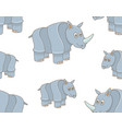 seamless pattern with rhinoceros vector image vector image