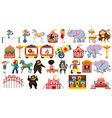 set circus element vector image vector image