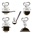 set cooking process images vector image