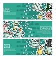 Set of Horizontal Banners about SPA vector image vector image