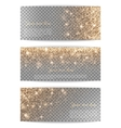 Set of horizontal banners transparent background vector image vector image
