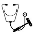 stethoscope hammer icon simple style vector image