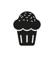 Sweet cupcake Icon on white vector image vector image