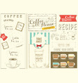 template menu for coffee house vector image vector image