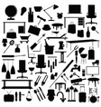 tool set in black color on white background vector image