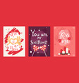 valentine day typography banners cards with vector image