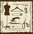 vintage elements for tailor labels - scissors vector image