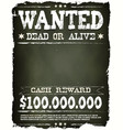 wanted vintage western poster on chalkboard vector image vector image