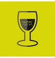 wine icon design vector image vector image