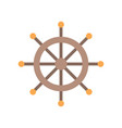 wooden ship helm icon flat design vector image vector image