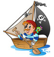 young cartoon pirate 1 vector image vector image