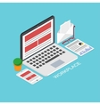 modern concept 3d isometric workplace vector image