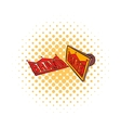 Stamp Brand with red text icon comics style vector image