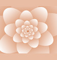 3d abstract orange floral spiral background vector image vector image