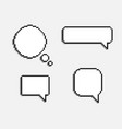 8 bit pixel speech bubbles vector image