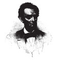 abraham lincoln vintage vector image
