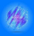 abstract background with dynamic particles vector image vector image