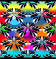 abstract flower petals on a beautiful psychedelic vector image vector image