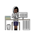 african businesswoman talking on phone vector image
