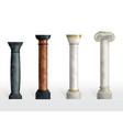 antique columns ancient classic ornate pillars vector image
