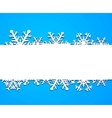 Background from snowflakes vector image vector image