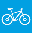 bike icon white vector image vector image