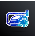 black cleaner icon vacuum symbol electric vector image vector image