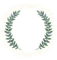 black olive branches wreath on a white background vector image vector image