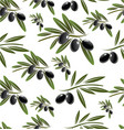 black olive seamless background vector image vector image